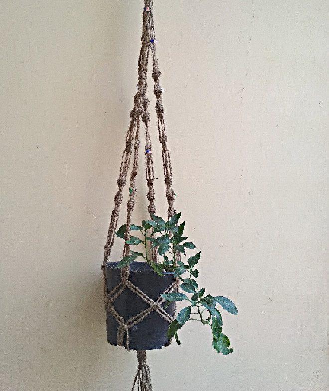 Flower Pot Plant Hanger Macrame Jute